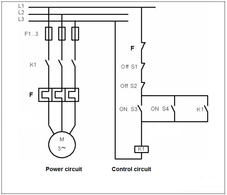 Start stop circuit from 2 position